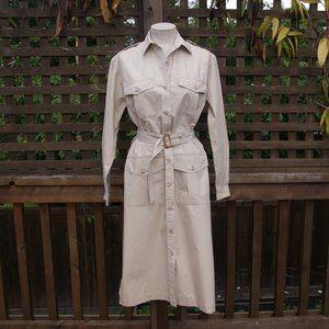 Vintage 80's BANANA REPUBLIC Safari Shirtdress M